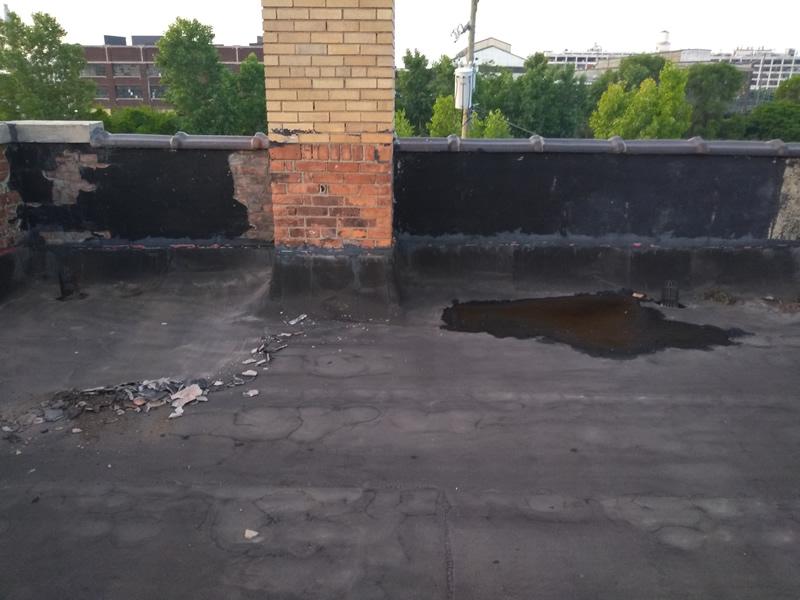 Detroit Flat Roof Repair - Before