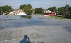 Commercial Flat Roof Repair - Eastpointe, MI (Before)